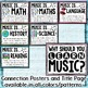 Music Across the Curriculum Posters- Music Pattern (Watercolor)