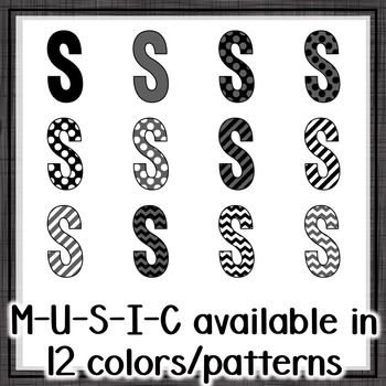 Music Across the Curriculum Posters- School Colors: Black/Gray