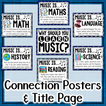 Music Across the Curriculum Posters- School Colors: Blue
