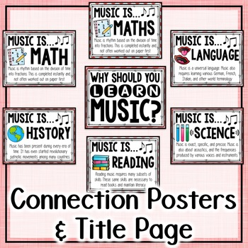 Music Across the Curriculum Posters- School Colors: Coral