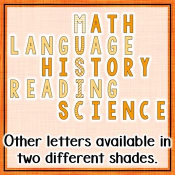 Music Across the Curriculum Posters- School Colors: Orange