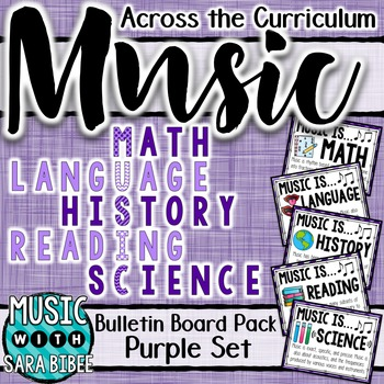 Music Across the Curriculum Posters- School Colors: Purple