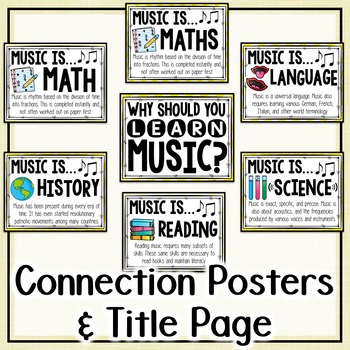 Music Across the Curriculum Posters- School Colors: Yellow