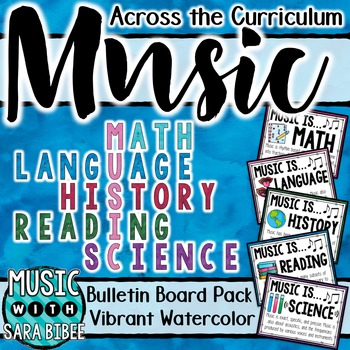 Music Across the Curriculum Posters- Vibrant Watercolor