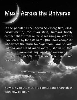 Music Across the Universe Flyer
