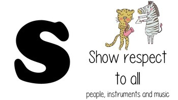 Music Acrostic Rules, simple version