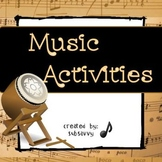 Music Distant Learning Activities