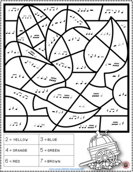 Music Activities - AUTUMN Colour by Music Notes and Rests