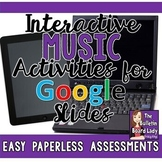 Distance Learning Music Activities Google Slides GROWING Bundle