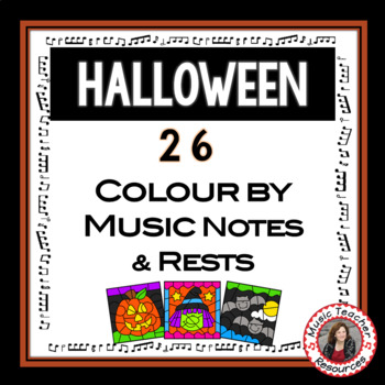 Product Thumbnail HALLOWEEN Music Colouring Sheets