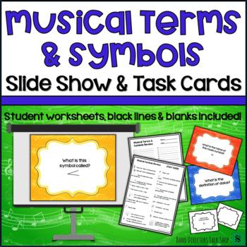 Music Activities- Music Symbols & Terms Music Game