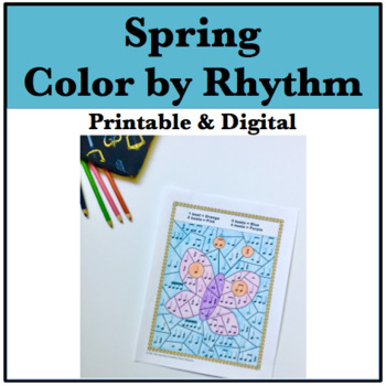 Music Activity - Spring Colour by Rhythm - 3 New Designs!