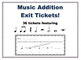Music Addition Exit Tickets - Basic Rhythms and Rests