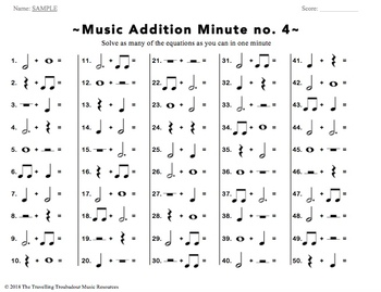 Music Addition Minute