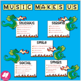 Dragon-Themed Music Advocacy Bulletin Board
