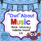 """Music Bulletin Board Kit: """"Owl"""" About Music Advocacy Board"""