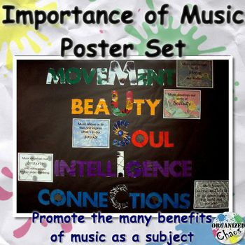 Music Advocacy Bulletin Board Kit: The Importance of Music