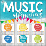 Music Affirmations (58 Posters for Motivation and Mindfulness)