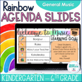 Music Agenda Slides for Google Drive - Rainbow