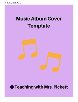 Music album cover songwriting template by mrs pickett tpt music album cover songwriting template maxwellsz