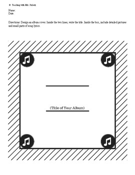 Music Album Cover & Songwriting Template