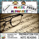 Music Alphabet Activities Bundle