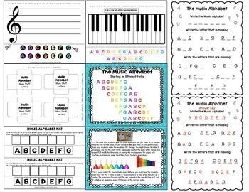 Music Alphabet Activities Pack