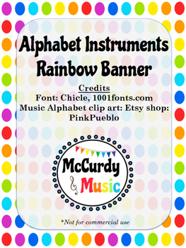 Music Alphabet Banner Set