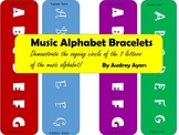 """Music Alphabet Bracelets-- a """"take home"""" or craft/activity for music"""