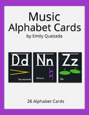 Music Alphabet Card Posters