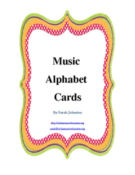 Music Alphabet Cards