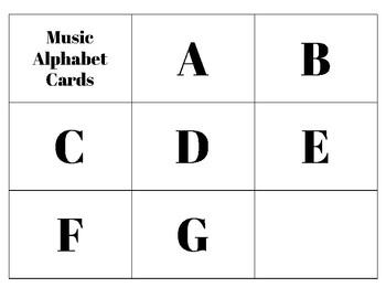 Music Alphabet Cards