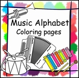 Music Alphabet Coloring pages.