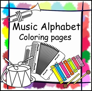 Musical Instrument Coloring Pages Worksheets Teaching Resources Tpt