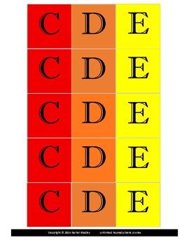 Music Alphabet Game Cards