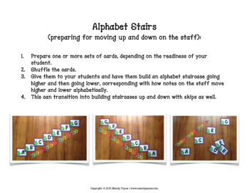 Music Alphabet Monsters {Music Alphabet Cards ABCDEFG, Color & Ink-Friendly}
