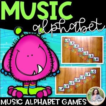 Music Alphabet Monsters {Music Alphabet Cards ABCDEFG, Col