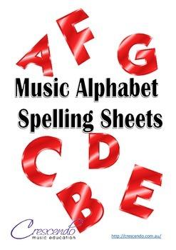 Music Alphabet Spelling Sheets