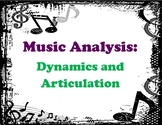 Music Analysis - Dynamics and Articulation