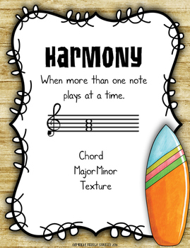 Music Anchor Charts {Hawaiian Beach}
