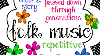 Music Anchor Charts: Music Genres