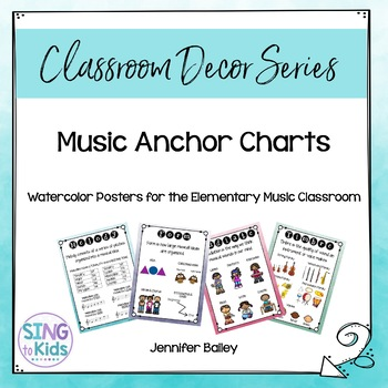 Music Anchor Charts for the MLT Inspired Classroom: Watercolor Series