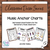 Music Anchor Charts for the Music Learning Inspired Classroom: Distressed Wood