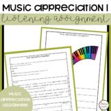 Music Appreciation Assignment 1