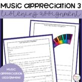 Music Appreciation Assignment 3
