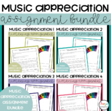 Music Appreciation Assignment Bundle