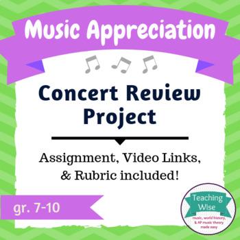 Music Appreciation Project – Concert Review
