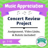 Music Appreciation Project – Concert Review