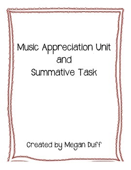 Music Appreciation Unit and Project
