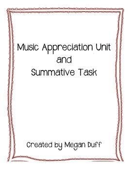 Music Appreciation Unit and Project